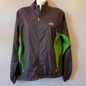 The North Face Black/Green Windbreaker Jacket